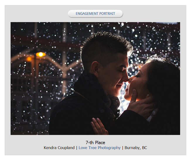 award winning wedding photography in canada | 7-th overall Best Engagement Portrait