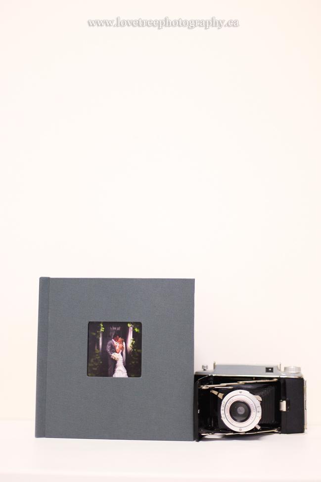 slate coloured wedding album by www.lovetreephotography.ca