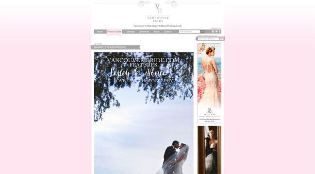 vancouver wedding photographers love tree photography are featured on Vancouver Bride