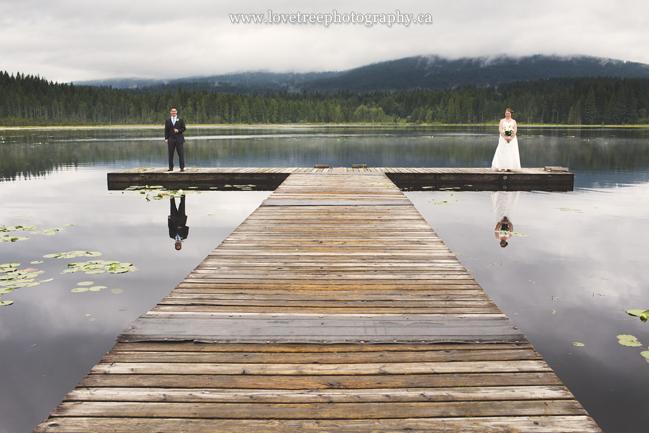 rustic wedding at whonnock lake